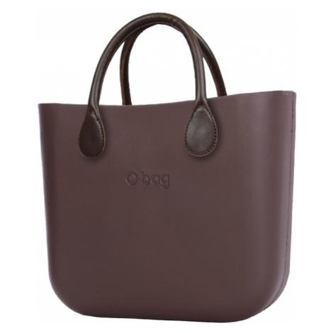 O bag kabelka MINI Chocolate s hnedými krátkymi koženkovými rúčkami