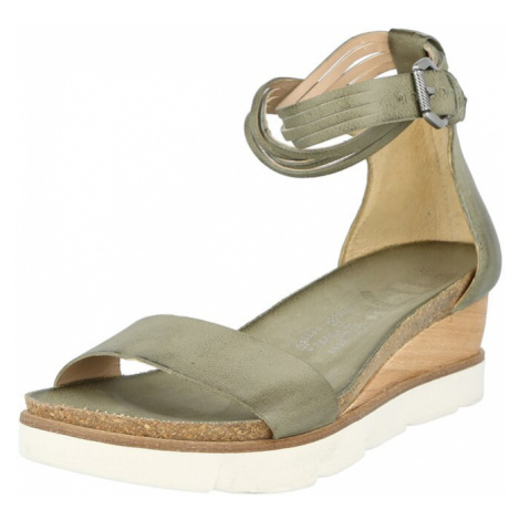 MJUS Sandále 'TAPASITA'  olivová / svetlohnedá / biela