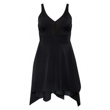 Zizzi Plavkové šaty 'SNISHI'  čierna