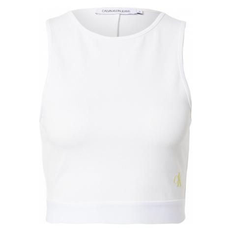 Calvin Klein Jeans Top 'Milano'  biela / žltá