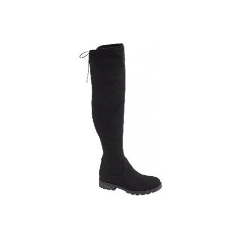 Čierne čižmy nad kolená Graceland