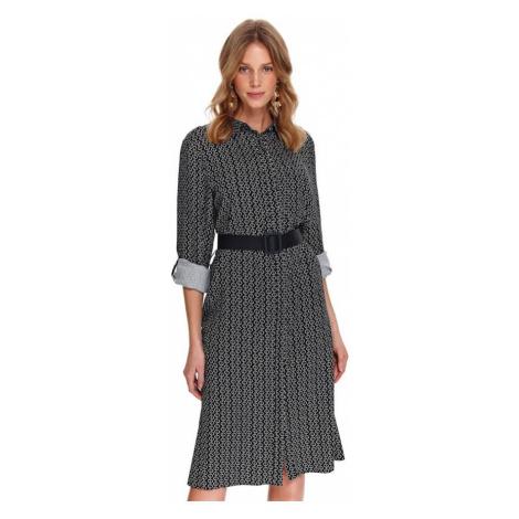 Košeľové midi šaty s dlhým rukávom Top Secret