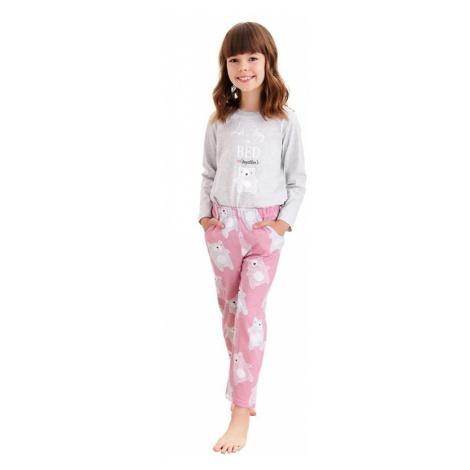 Dievčenské pyžamo Sofia šedé medvedík Taro