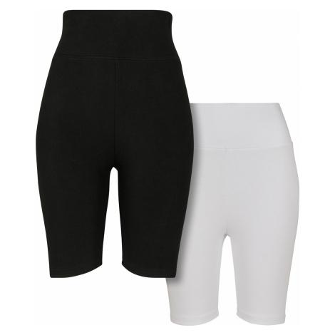 Dámske kraťasy Urban Classics High Waist Cycle 2-pack black/white