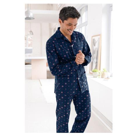 Blancheporte Klasické pánske pyžamo s potlačou nám.modrá