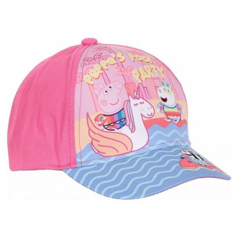 Ružová dievčenské šiltovka Prasiatko Peppa Peppa Pig