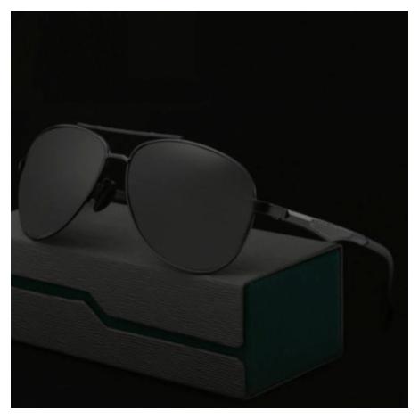 Polarizačné slnečné okuliare pilotky Aron celé čierne