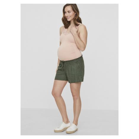 Kaki tehotenské ľanové kraťasy Mama.licious Mama Licious