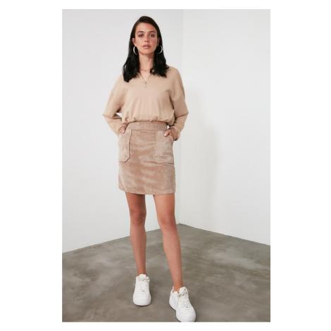 Trendyol Mink Velvet Skirt