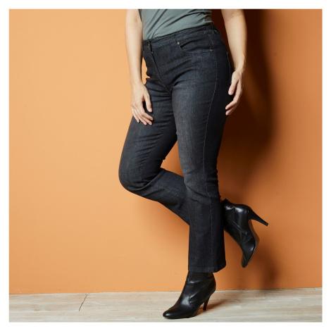 Blancheporte 7/8 bootcut džínsy sivá