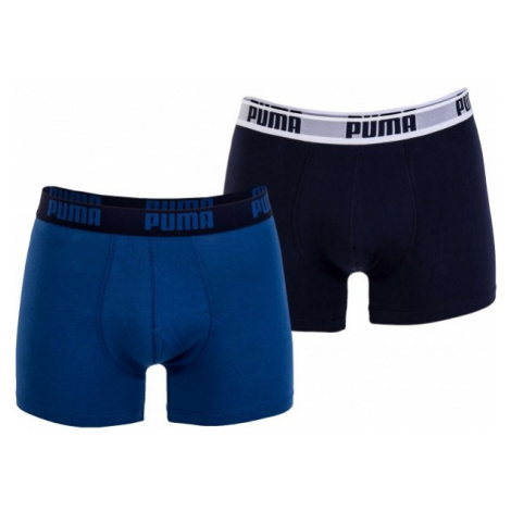 Puma BASIC BOXER 2P tmavo modrá - Pánske boxerky