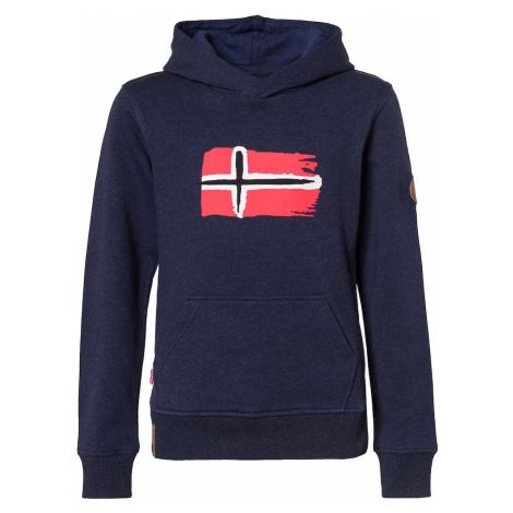 TROLLKIDS Športová mikina 'Trondheim'  biela / námornícka modrá / svetločervená