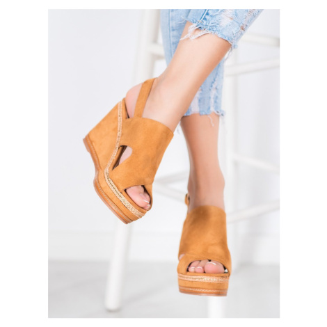 BEST SHOES CAMELOWE SANDALS FASHION shades of brown and beige
