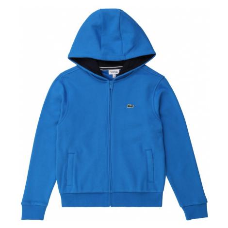 LACOSTE Tepláková bunda  nebesky modrá