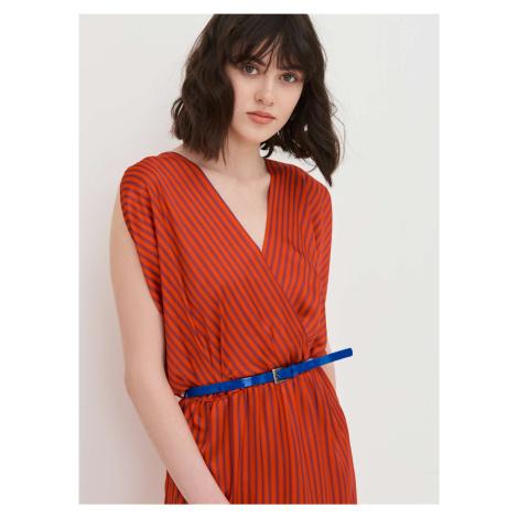 Dámske tunikové šaty s prúžkom Pietro Filipi červená