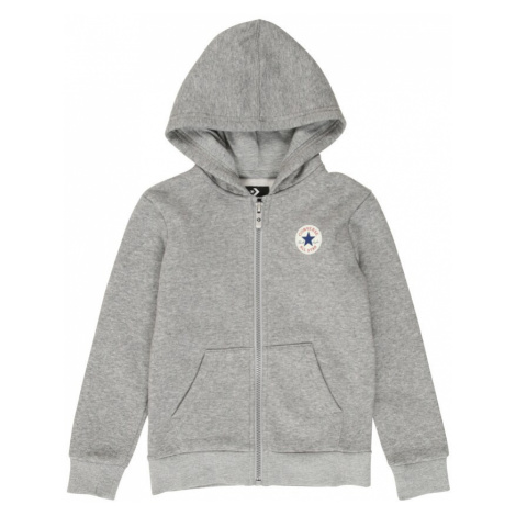 CONVERSE Tepláková bunda  sivá