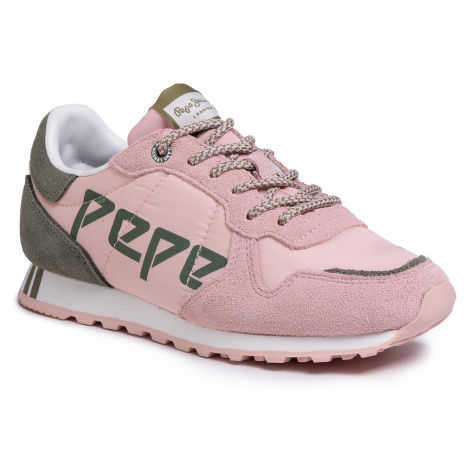 Sneakersy PEPE JEANS - Verona W Logo PLS30984  Washed Rose 313