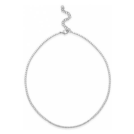 Rosato Elegantný strieborný náhrdelník so zirkónmi cubic RZC038