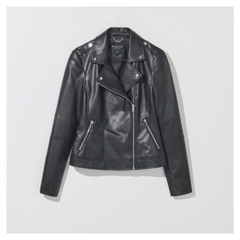 Mohito - Motorkárska bunda s ozdobnými epoletami - Čierna