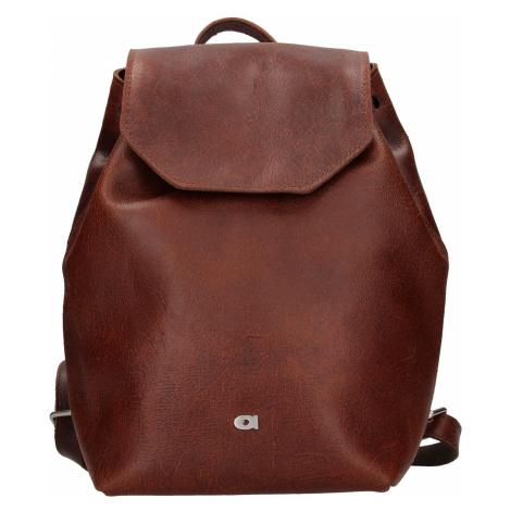 Dámsky kožený batoh Daag Magda GO! 26 - hnedá