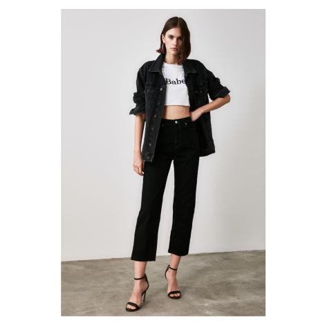 Trendyol Black High Waist Straight Jeans
