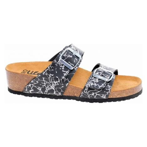 Dámské pantofle Bio Life 2632-130 black Pisa 361 2632-130 black Pisa 361