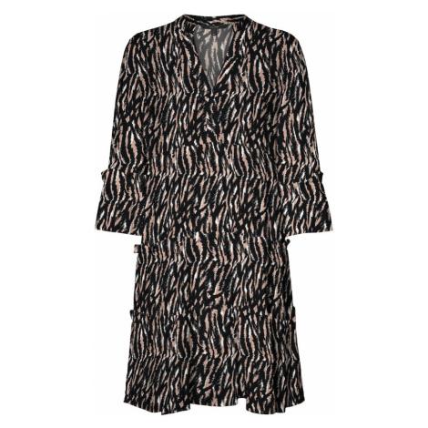 Vero Moda Petite Šaty 'Simply Easy'  čierna / svetlohnedá