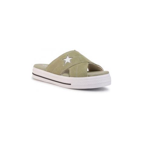 Converse Šľapky One Star Sandal Slip 567723C Zelená