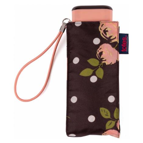 Totes Compact Flat Rose Umbrella