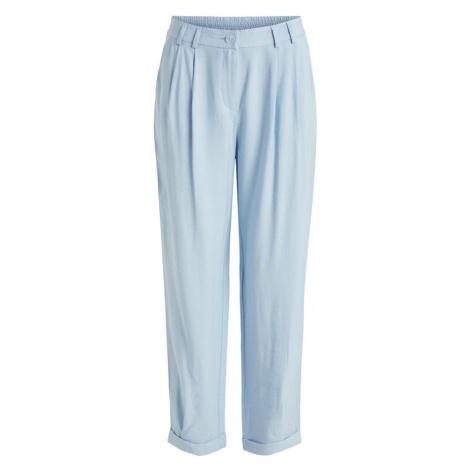 VILA Plisované nohavice 'Effy'  svetlomodrá