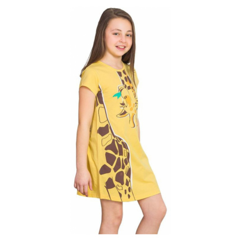 Dievčenská nočná košeľa Miss Giraffe žltá Vienetta Secret