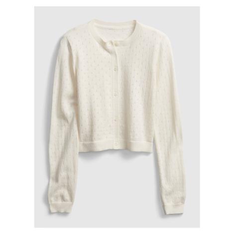 Detský sveter knit cardigan Béžová GAP