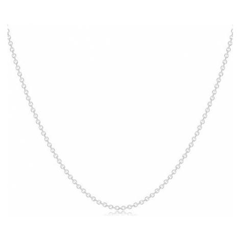 Strieborný 925 náhrdelník - retiazka z oválnych očiek, gulička, prstenec a kruh