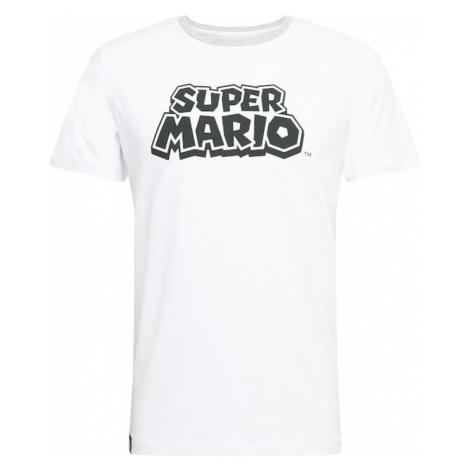 JACK & JONES Tričko 'SUPER MARIO'  biela / čierna