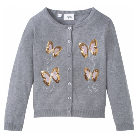 Bavlnený sveter s flirtami bonprix