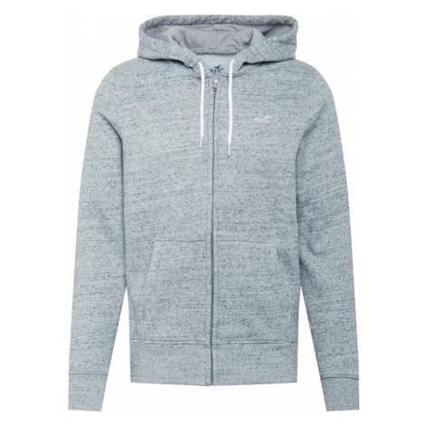 HOLLISTER Tepláková bunda  sivá melírovaná