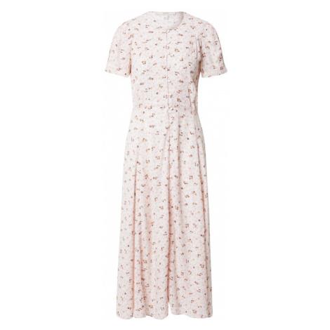 sessun Košeľové šaty 'ADELAIDA'  ružová / hnedá / gaštanová / svetloružová Sessùn