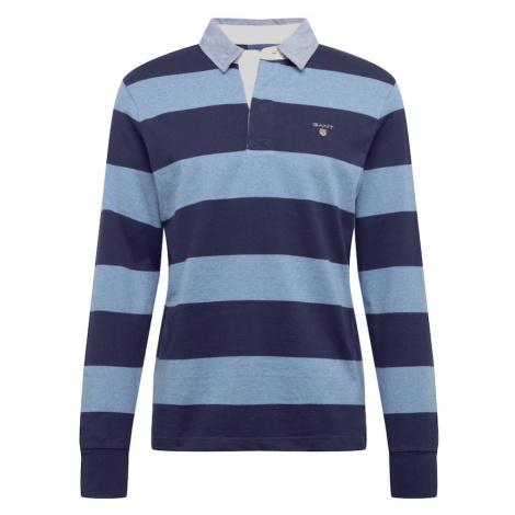 GANT Tričko  modrá melírovaná / dymovo modrá