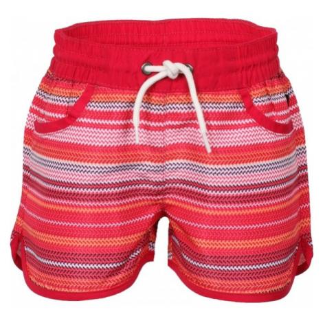 ALPINE PRO DOORO červená - Detské šortky