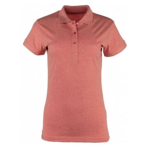 ALPINE PRO ZENDAYA ružová - Dámske polo tričko