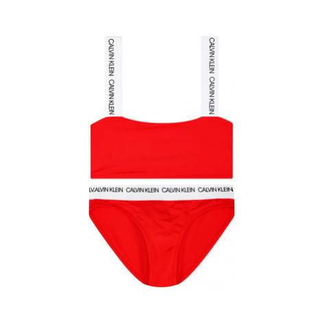 Calvin Klein Swimwear Bikiny G80G800300 Červená