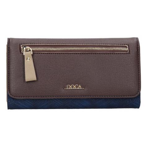 Dámska peňaženka Doca 65140 - modro - hnedá