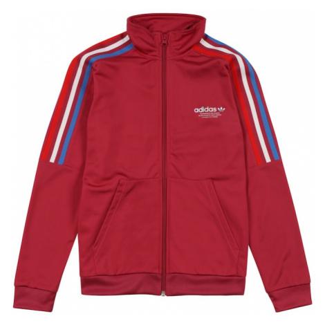 ADIDAS ORIGINALS Tepláková bunda 'Adicolor Originals'  ružová / biela / červená / modrá
