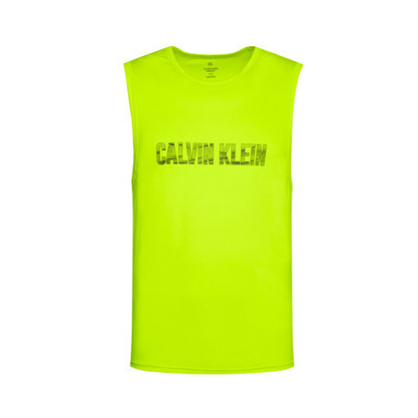 Calvin Klein Performance Tank top 00GMF0K176 Zelená Regular Fit