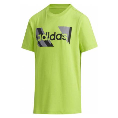 adidas YB Q2 T zelená - Chlapčenské tričko