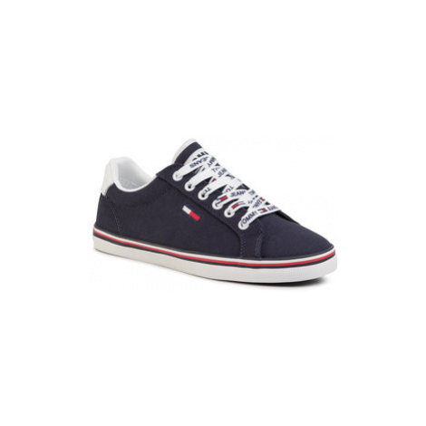 Tommy Jeans Tenisky Essential Lace Up Sneaker EN0EN00786 Tmavomodrá Tommy Hilfiger