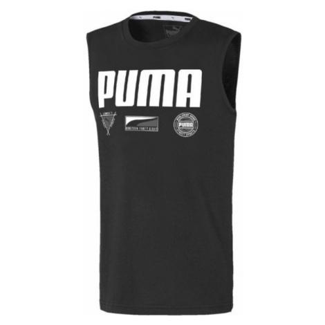 Puma ALPHA SUMMER SVEELESS TEE B čierna - Chlapčenské športové tielko
