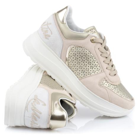 Tenisky La Martina Woman Shoes Laminato Forato