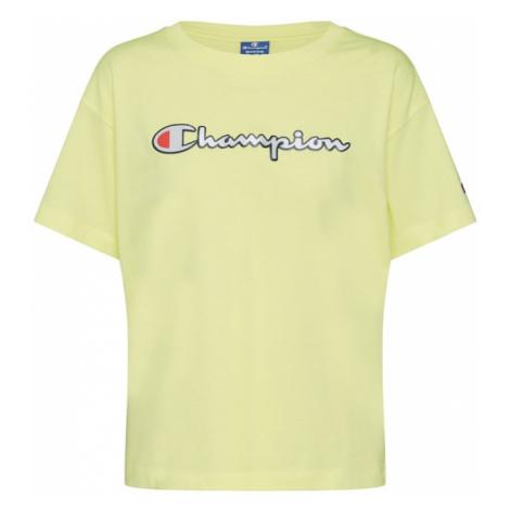 Champion Authentic Athletic Apparel Tričko 'Crewneck T-Shirt'  žltá
