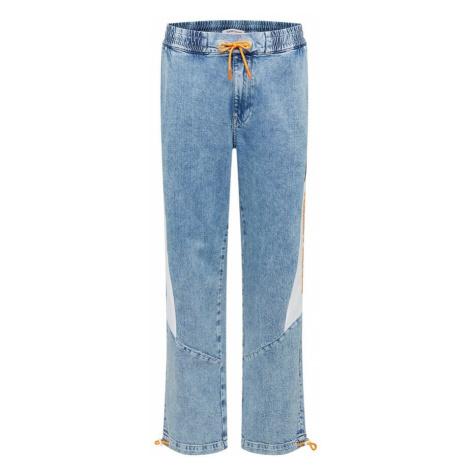 Tommy Jeans Džínsy  modrá denim / biela / svetlooranžová / čierna Tommy Hilfiger